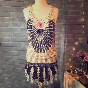 Free People earthy sunburst rope dress / tunic